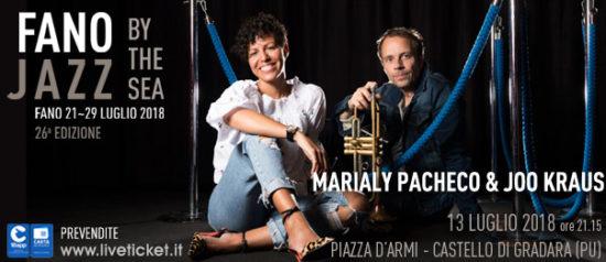 Marialy Pacheco & Joo Kraus – Special Event al Fano Jazz by the Sea 2018 a Gradara