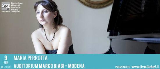 Maria Perrotta all'Auditorium Marco Biagi di Modena