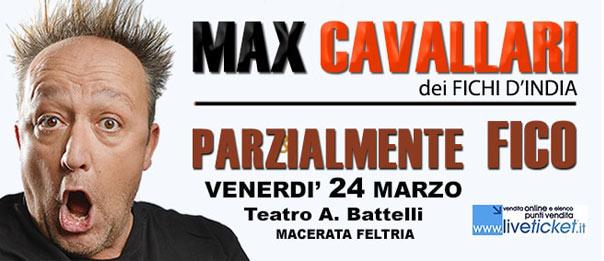 """Max Cavallari """"Parzialmente Fico"""" al Teatro Battelli di Macerata Feltria"""