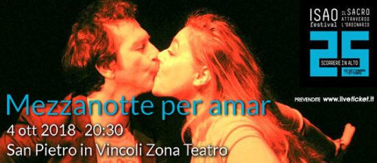 """Isao Festival """"Mezzanotte per amar"""" al Teatro in San Pietro in Vincoli a Torino"""