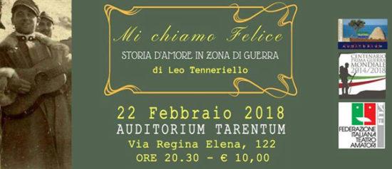 Mi chiamo Felice all'Auditorium Tarentum di Taranto