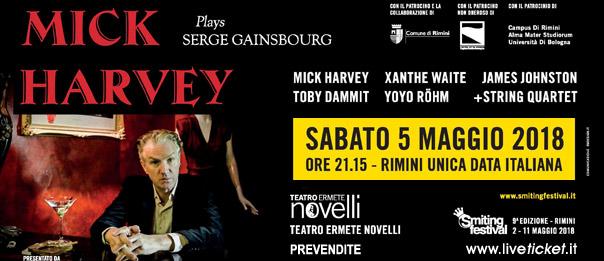 Mick Harvey plays Serge Gainsbourg al Teatro Ermete Novelli a Rimini