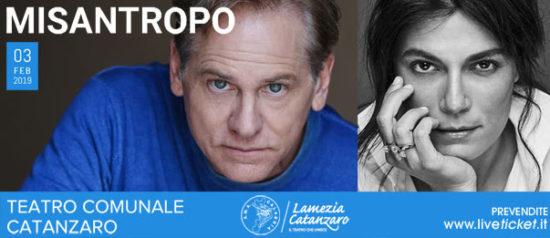 """Giulio Scarpati e Valeria Solarino """"Misantropo"""" al Teatro Comunale di Catanzaro"""