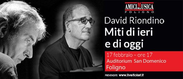 David Riondino - Miti di ieri e di oggi all'Auditorium San Domenico di Foligno