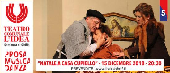 Natale in Casa Cupiello al Teatro L'Idea a Sambuca di Sicilia