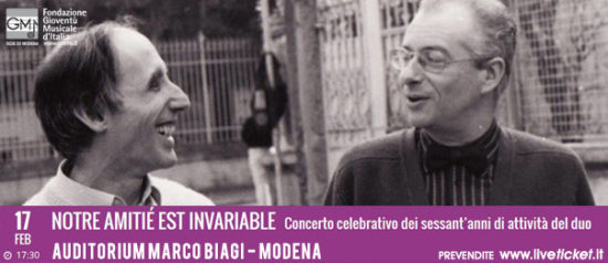 Notre amitié est invariabile all'Auditorium Marco Biagi di Modenaì