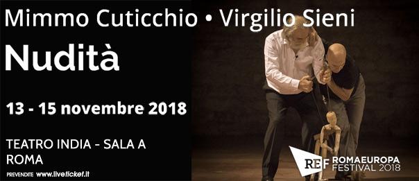 """Romaeuropa Festival 2018 – Mimmo Cuticchio • Virgilio Sieni """"Nudità"""" al Teatro India a Roma"""