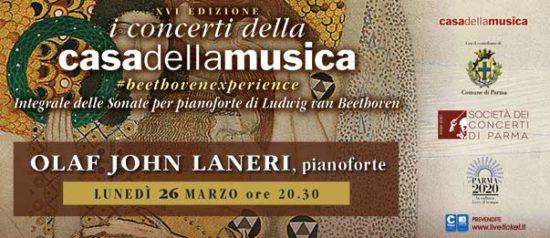 Olaf John Laneri alla Casa della Musica a Parma