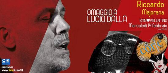 """Riccardo Majorana """"Omaggio a Lucio Dalla"""" al Teatro CorTe di Coriano"""