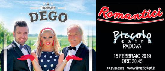 """Gianni Dego """"Romantici"""" al Piccolo Teatro di Padova"""