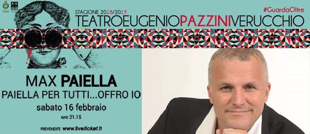 Max Paiella - Paiella per tutti, offro io! al Teatro Eugenio Pazzini di Verucchio