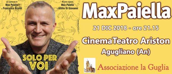 """Max Paiella """"Solo per voi"""" al Teatro Ariston di Agugliano"""