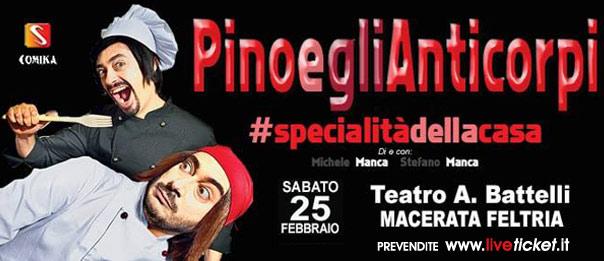 """Pino e gli anticorpi """"Specialità della casa"""" al Teatro Battelli di Macerata Feltria"""