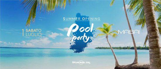 UrbanMusicDay summer opening pool party al Masai Club Cagli