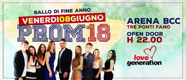 Prom - Ballo di fine anno 2018 all'Arena BCC a Fano