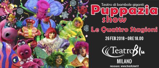 """Puppazia Show """"Le quattro stagioni"""" al Teatro Blu a Milano"""