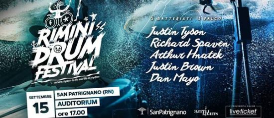 Rimini Drum Festival all'Auditorium San Patrignano a Coriano