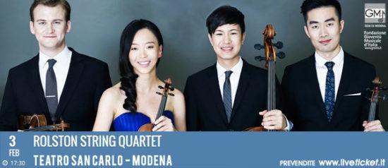Rolston string quartet al Teatro San Carlo a Modena