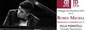 Ruben Micieli pianoforte a Villa Pignatelli a Napoli