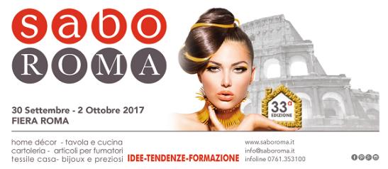 """""""Sabo Roma 2017"""" al Fiera di Roma"""