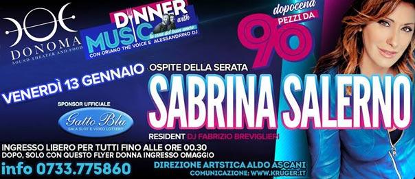 Pezzi da 90: Sabrina Salerno al Donoma di Civitanova Marche