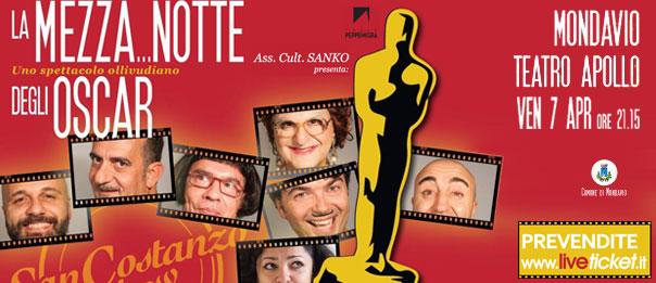 """San Costanzo Show """"La mezza...notte degli Oscar"""" al Teatro Apollo di Mondavio"""