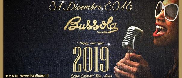 San Silvestro 2019 a La Bussola a Marina di Pietrasanta