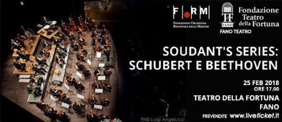 """Orchestra Filarmonica Marchigiana """"Soudant's series: Schubert e Beethoven"""" al Teatro della Fortuna a Fano"""