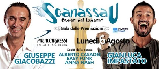 Sganassau Oscar del Cabaret al Palacongressi a Bellaria-igea Marina