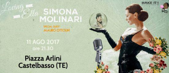 """Simona Molinari in concerto - """"Loving Ella"""" alla Piazza Arlini a Castelbasso"""