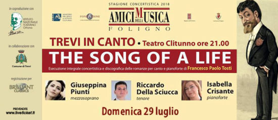 The song of a life - XV concerto al Teatro Clitunno di Trevi