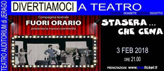 Satesera...che cena all'Auditorium Jerago a Jerago con Orago Copia