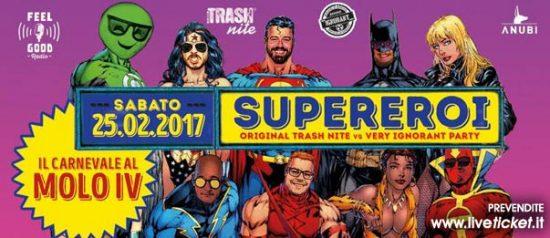 Carnevale: Trash vs Vip al Molo 4 Trieste