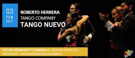 """Roberto Herrera """"Tango Nuevo"""" al Teatro Comunale Grandinetti di Lamezia Terme"""