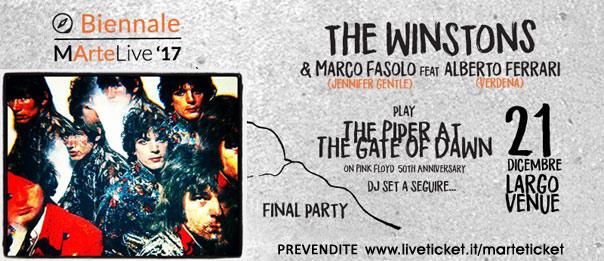 The Winstons & Marco Fasolo ft. Alberto Ferrari play the Piper a Largo Venue a Roma