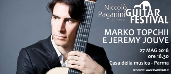 Marko Topchii e Jeremy Jouve alla Casa della Musica a Parma