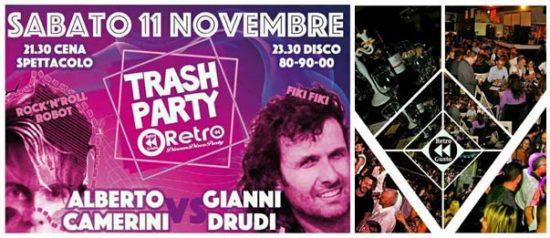 RetroGusto Trash party - live show Alberto Camerini vs Gianni Drudi al Retrogusto Dinner Disco di Forlì