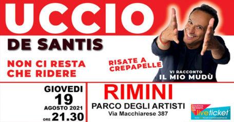 Uccio de Santis in Vi racconto il mio modu' al Parco degli Artisti di Rimini