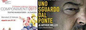 "Sebastiano Somma ""Uno sguardo dal ponte"" al Teatro Mangiatordi di Altamura"