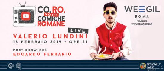 Valerio Lundini al WEGIL a Roma