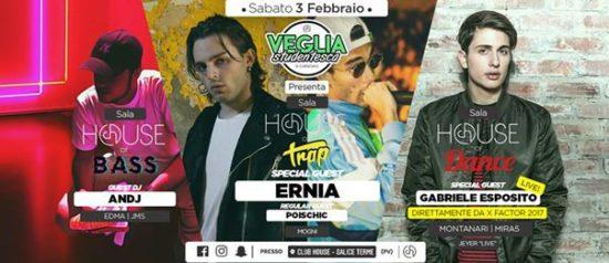 Veglia Studentesca di Carnevale 2018 w/ Ernia & many more al Club House a Salice Terme