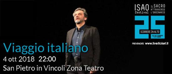 """Isao Festival """"Viaggio italiano"""" al Teatro in San Pietro in Vincoli a Torino"""