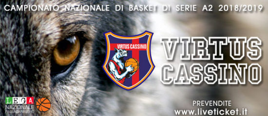 Virtus Cassino serie A2 Stagione 2018/19