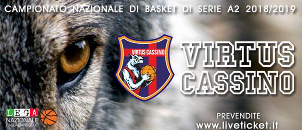 Virtus Cassino serie A2 Stagione 2018/19