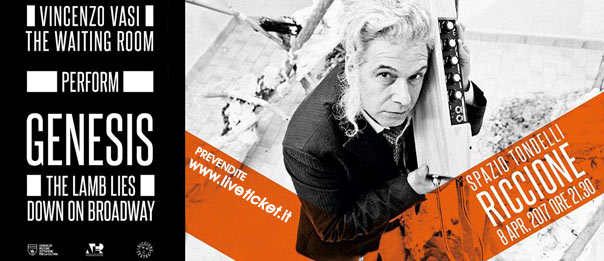 The Waiting Room + Vincenzo Vasi plays Genesis allo Spazio Tondelli di Riccione