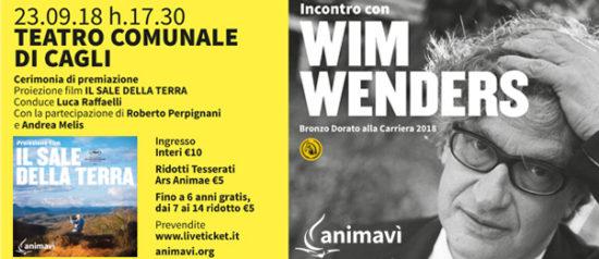 """Incontro con Wim Wenders e proiezione """"Il sale della terra"""" al Teatro Comunale di Cagli"""